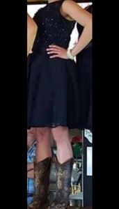 Mori Lee Dresses - Morilee Navy Bridesmaid Dress (Lace)